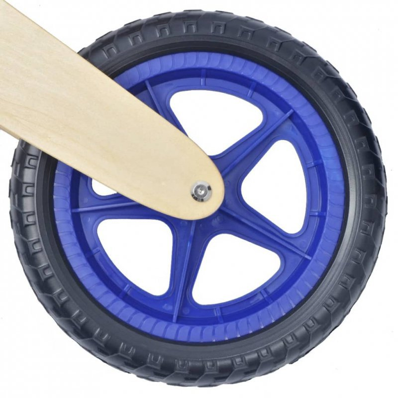 Rowerek biegowy drewniany w kolorze niebieskim