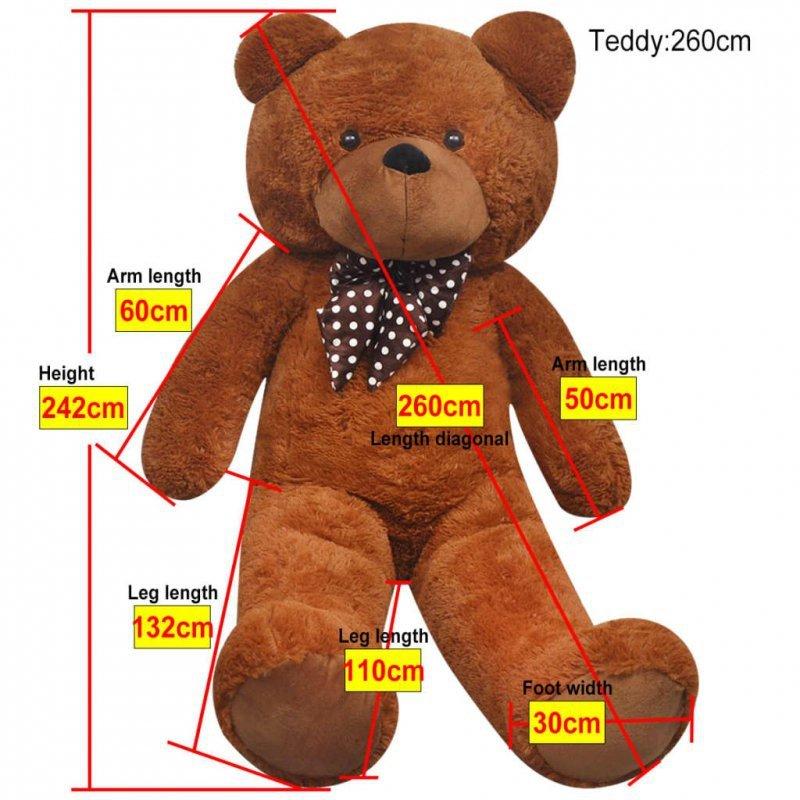 Pluszowy miś przytulanka, brązowy, 242 cm