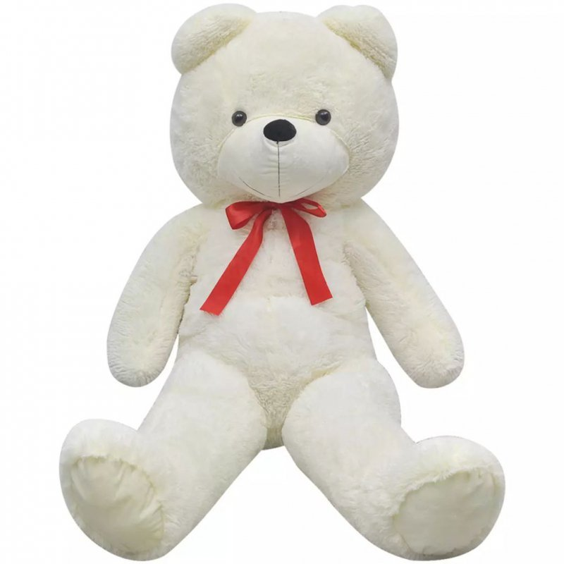 Pluszowy miś przytulanka, biały, 242 cm