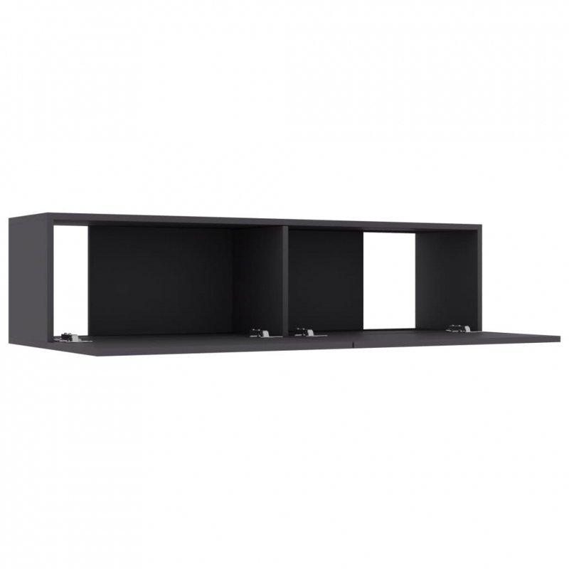 Szafka TV, szara, 120x30x30 cm, płyta wiórowa
