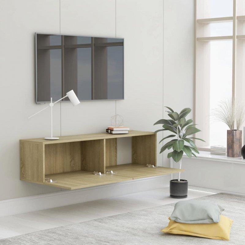Szafka pod TV, dąb sonoma, 120x30x30 cm, płyta wiórowa
