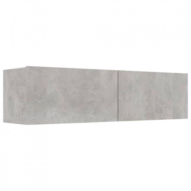 Szafka TV, betonowa szarość, 120x30x30 cm, płyta wiórowa