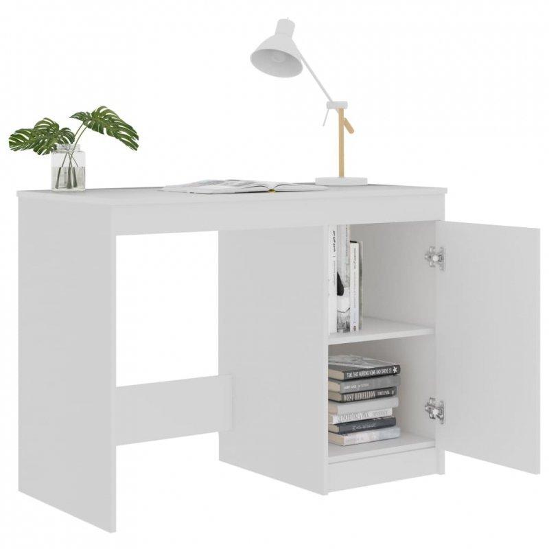 Biurko, białe, 100x50x76 cm, płyta wiórowa