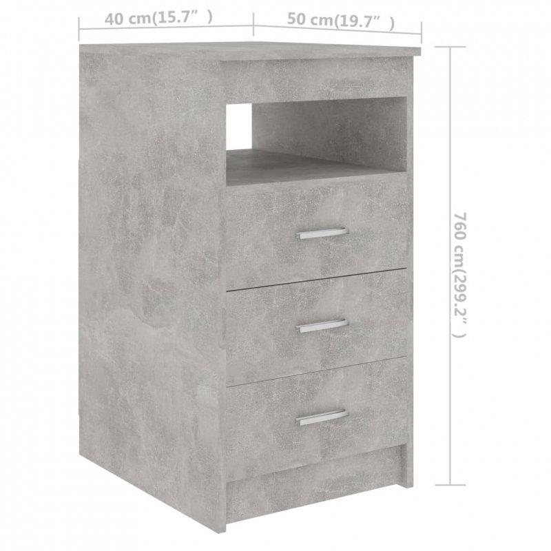 Komoda, szarość betonu, 40x50x76 cm, płyta wiórowa