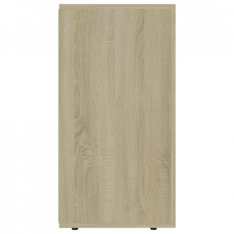 Komoda, dąb sonoma, 120x36x69 cm, płyta wiórowa