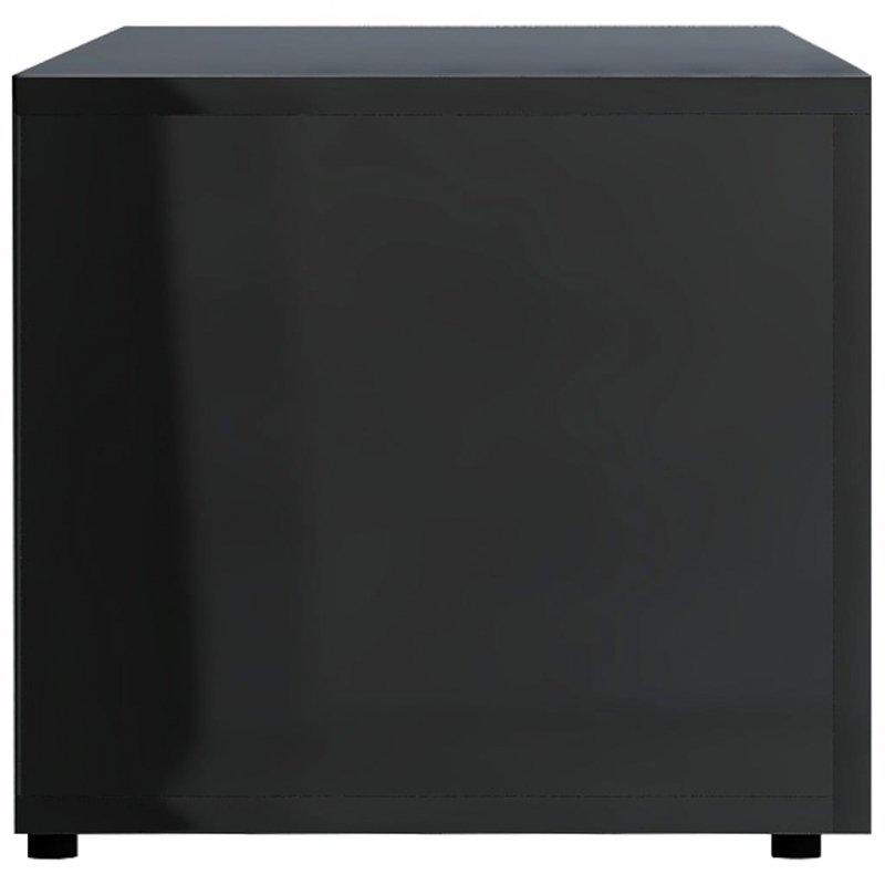Szafka pod TV, czarna, wysoki połysk 120x34x30 cm płyta wiórowa