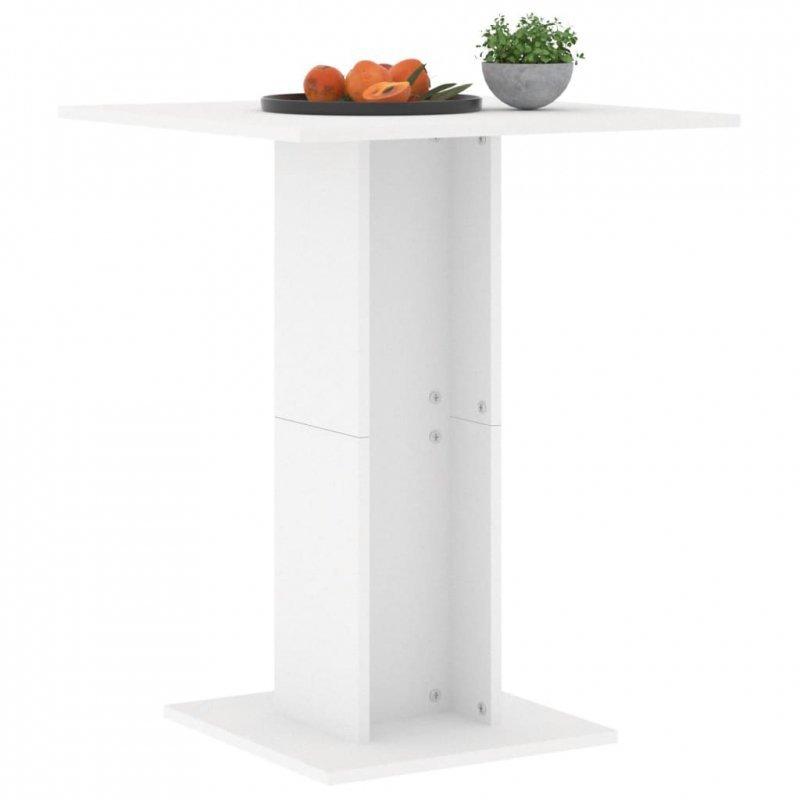 Stolik bistro, biały, 60x60x75 cm, płyta wiórowa