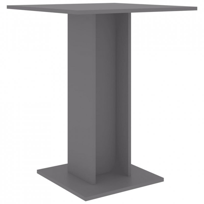 Stolik bistro, szary, 60x60x75 cm, płyta wiórowa