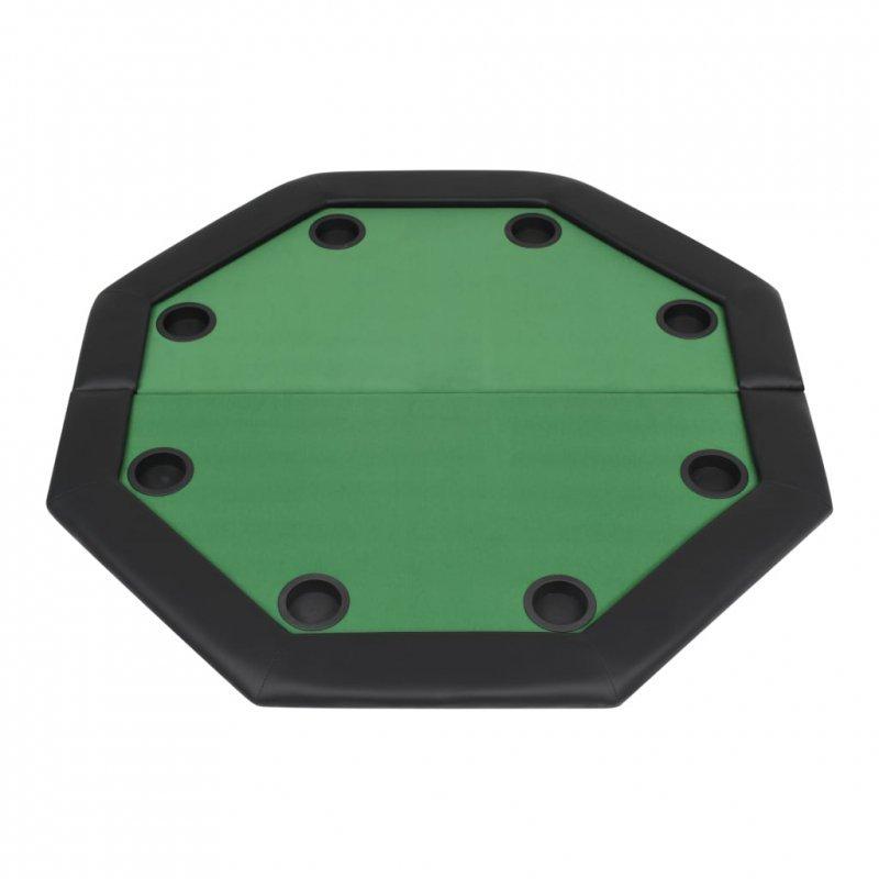 Składany stół do pokera dla 8 graczy, ośmiokątny, zielony