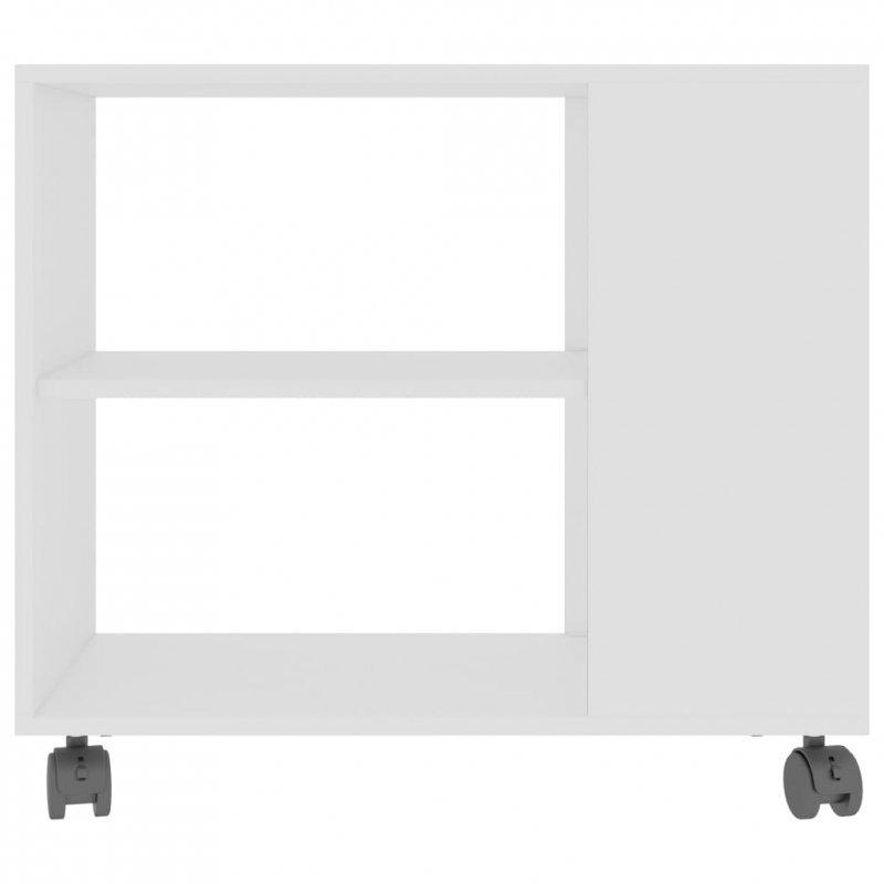 Stolik boczny, biały, 70x35x55 cm, płyta wiórowa