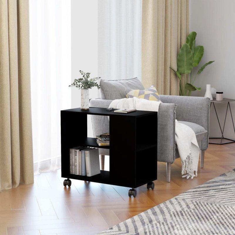 Stolik boczny, czarny, 70x35x55 cm, płyta wiórowa