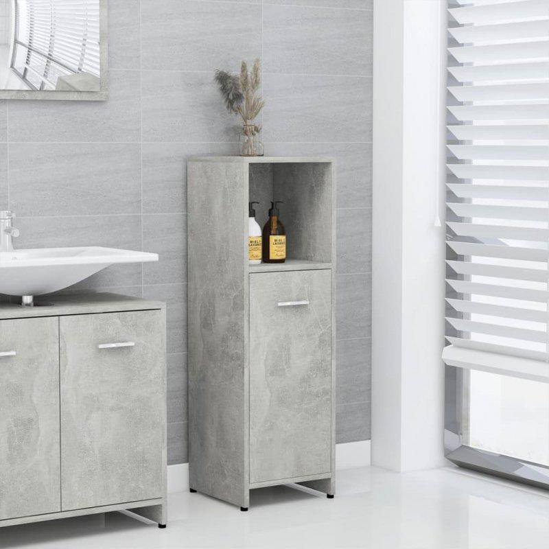 Szafka łazienkowa, szarość betonu, 30x30x95 cm, płyta wiórowa
