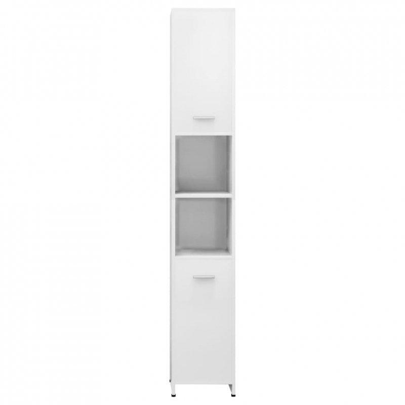 Szafka łazienkowa, biała, wysoki połysk, 30x30x183,5 cm, płyta