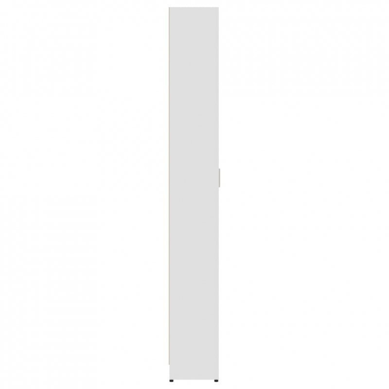 Szafa do przedpokoju, biała, 55x25x189 cm, płyta wiórowa