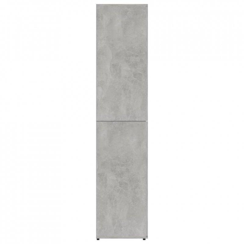 Szafka na buty, betonowa szarość, 80x39x178 cm
