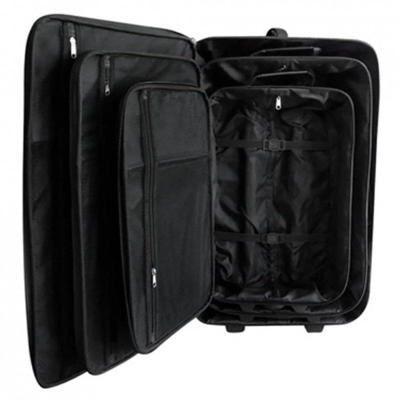 Zestaw walizek podróżnych, 5 elementów, kolor czarny