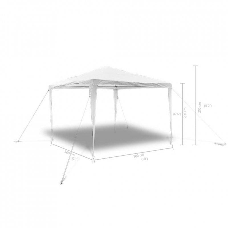 Pawilon ogrodowy, dach w kształcie piramidy, 3 x 3 m
