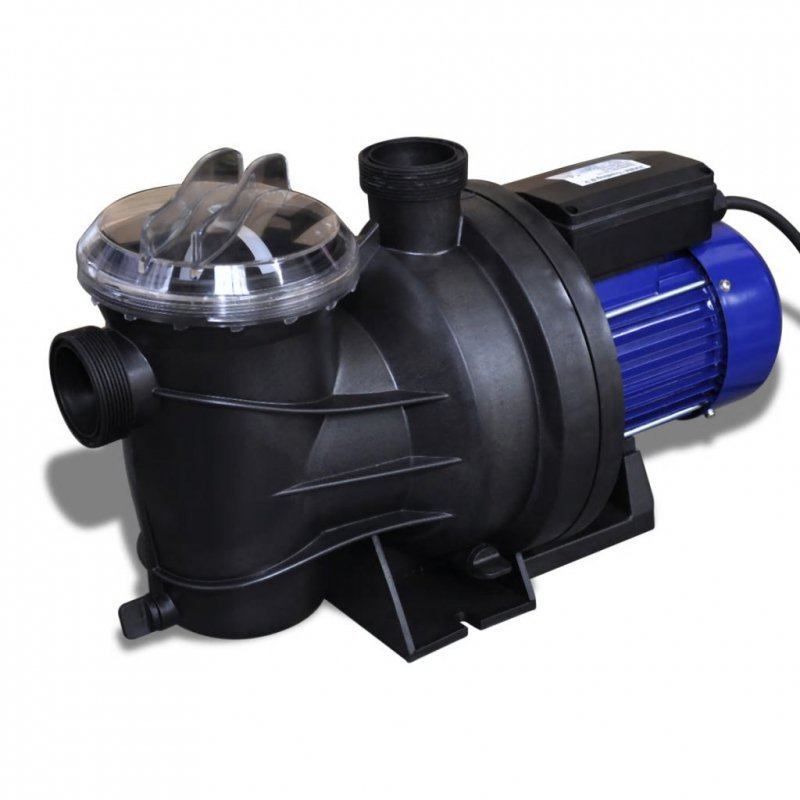 Elektryczna pompa basenowa, 1200 W, niebieska
