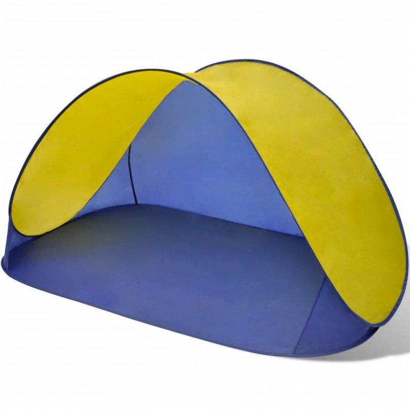 Składany namiot plażowy wodoodporny żółty