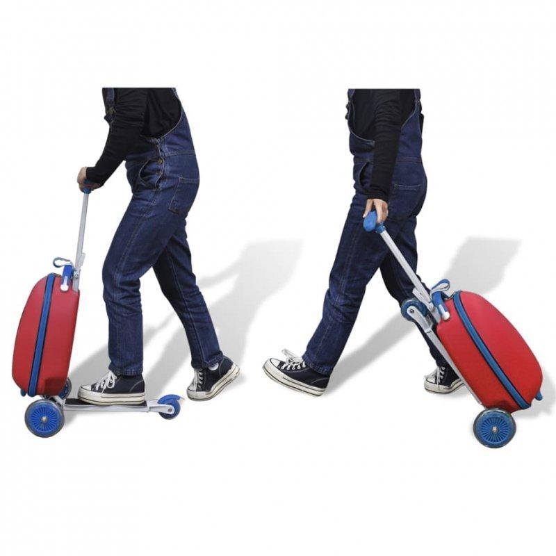 Hulajnoga dla dzieci z kuferkiem, czerwona