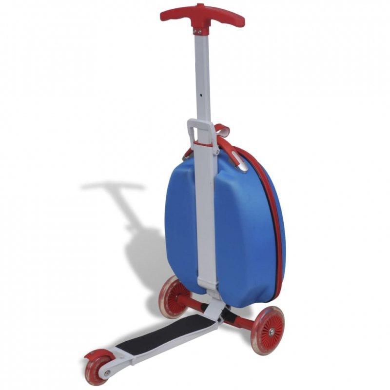 Hulajnoga dla dzieci z kuferkiem, niebieska