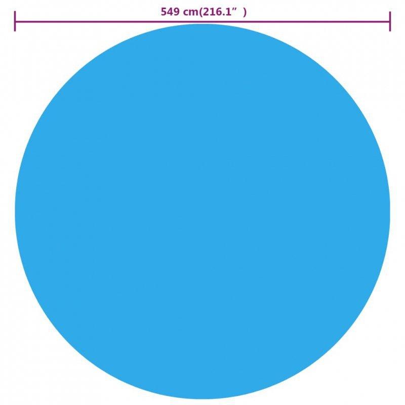Plandeka na okrągły basen, 549 cm, PE, niebieska