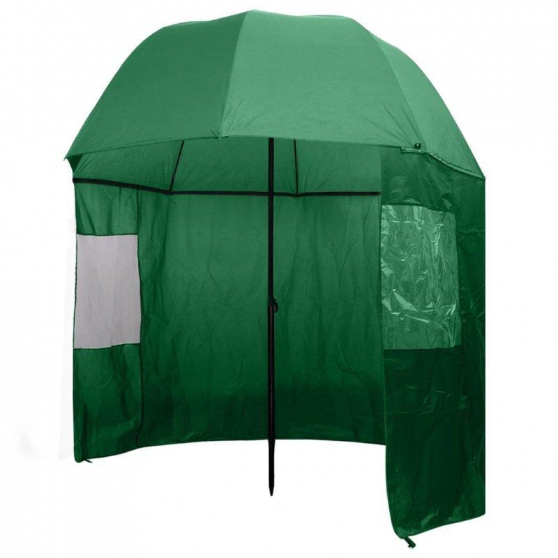 Parasol wędkarski / na ryby zielony 300x240 cm