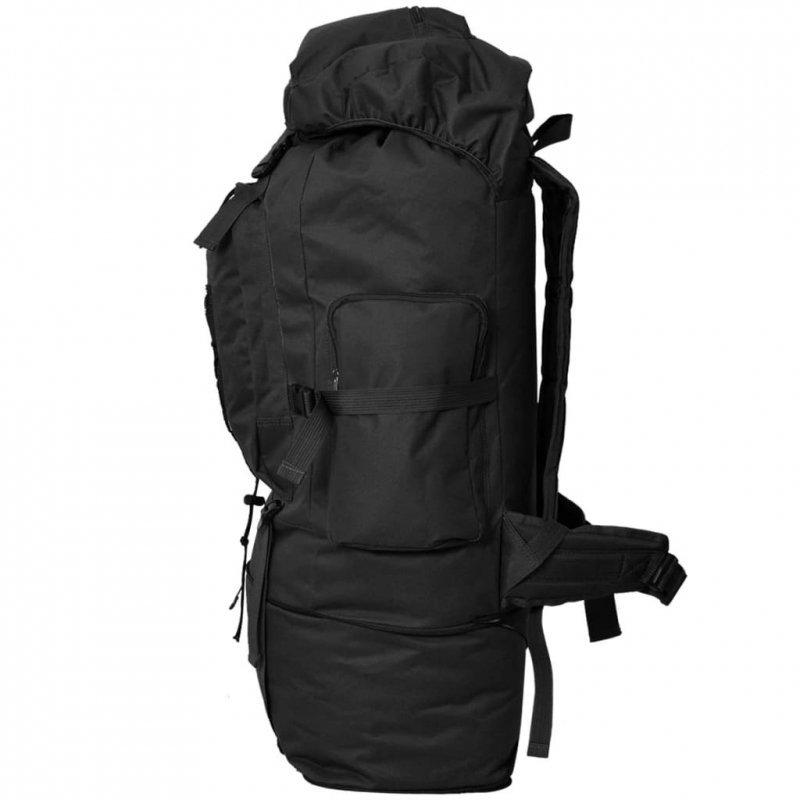 Plecak XXL w wojskowym stylu, 100 L, czarny