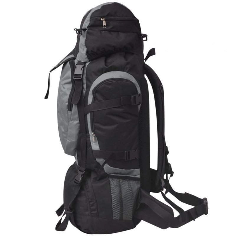 Plecak turystyczny, XXL, 75 L, czarno-szary