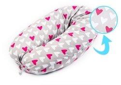 Rogal ciążowy XL SERCA różowe serca