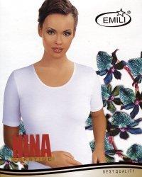 Koszulka Emili Nina czarna, beżowa 2XL-3XL