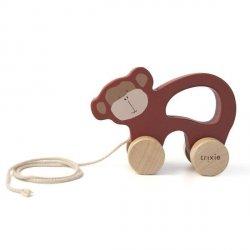 Drewniana zabawka do ciągnięcia Mr Monkey