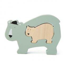 Drewniane puzzle Mr. Polar Bear