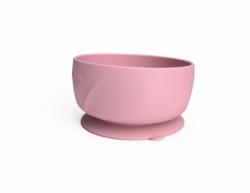 Silikonowa miseczka z przyssawką, różowa