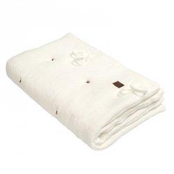 Kołderka z podusią i Rożek z oddychającej bawełny organicznej GOTS QUILT BABY HORN WHITE