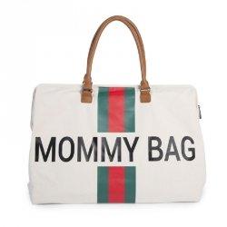 Torba Mommy Bag, paski zielono-czerwone