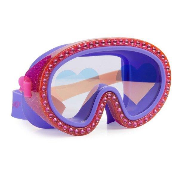 Maska do pływania Malinowe Serca, 6+