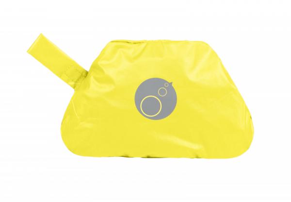 Fartuszek-śliniaczek wodoodporny z rękawami, Lemon Sherbet, 6-18m