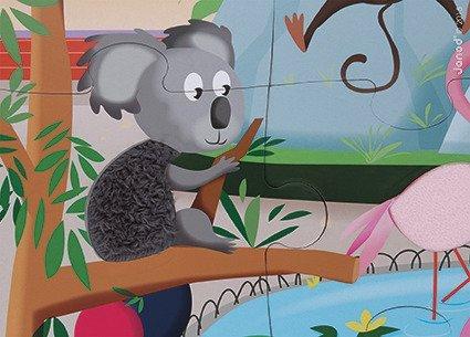 Puzzle sensoryczne 20 elementów Wycieczka do zoo