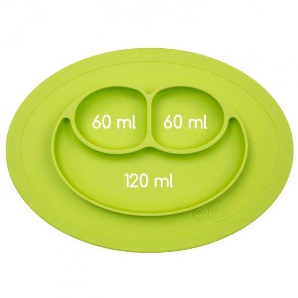 Silikonowy talerzyk z podkładką mały 2w1 Mini Mat zielony