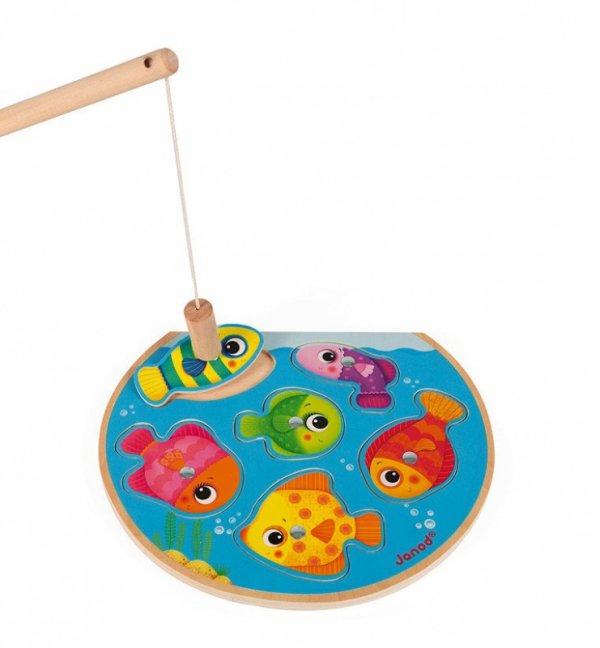 Puzzle z magnesami Szybkie rybki z wędką