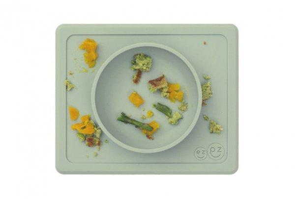 Silikonowa miseczka z podkładką 2w1 Mini Bowl pastelowa zieleń