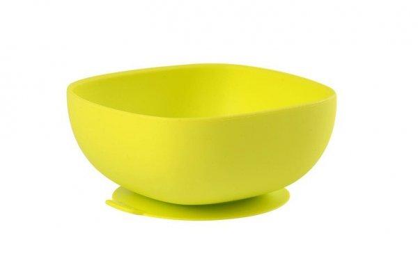 Silikonowa miseczka z przyssawką yellow