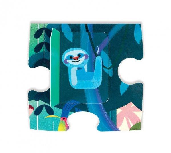 Puzzle z niespodzianką 20 elementów Uczta w dżungli