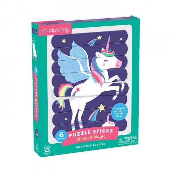 Puzzle Patyczki Magiczne jednorożce 24 elementy