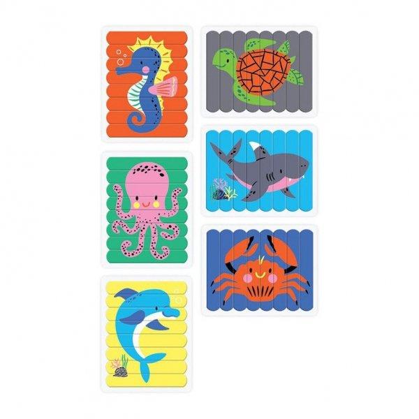 Puzzle Patyczki Morskie stworzenia 24 elementy