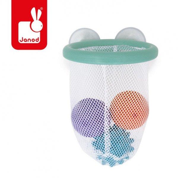 Gra w koszykówkę do kąpieli kosz z przyssawkami z 3 piłkami
