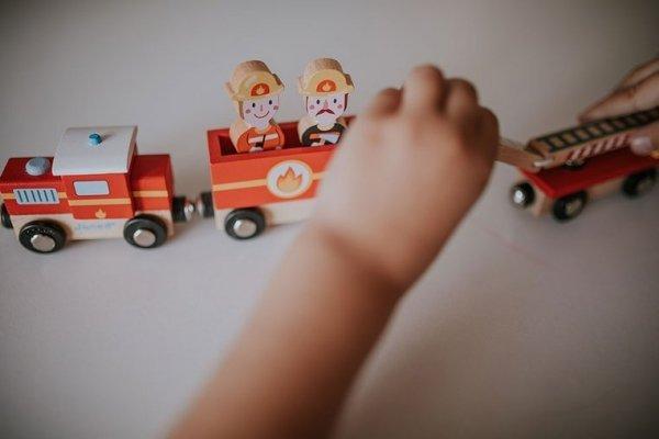 Pociąg drewniany Straż pożarna Story