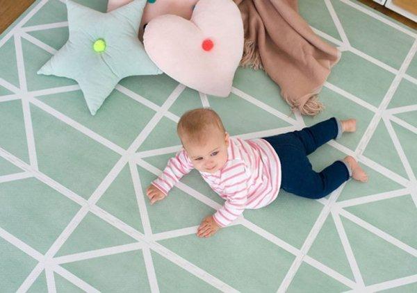 Mata do zabawy piankowa podłogowa Prettier Playmat Nordic Neo Matcha Green