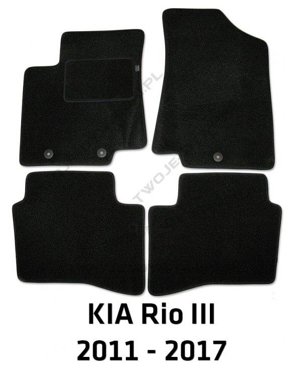 Dywaniki welurowe Kia Rio